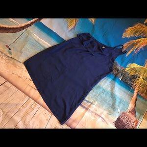 Final touch asymmetrical tunic royal blue sz S